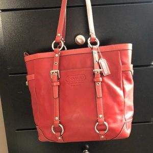 Authentic Christmas red coach purse